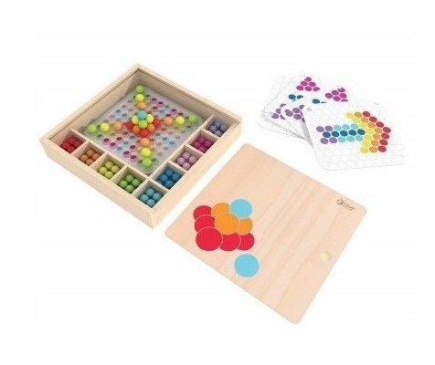 Детска дървена цветна мозайка